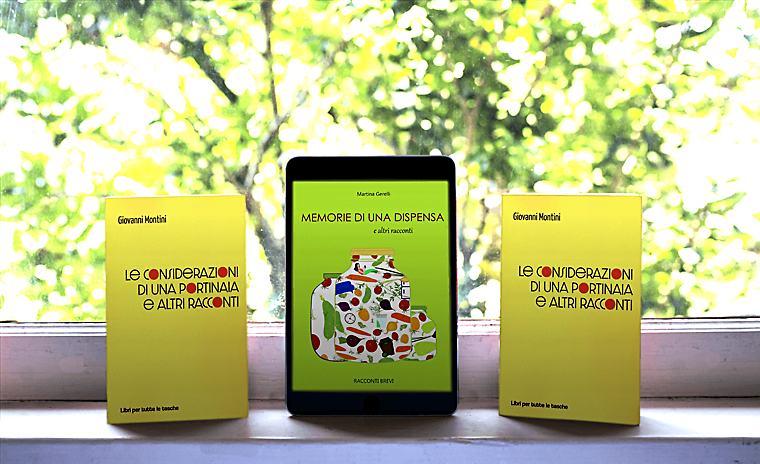 Due libri di racconti scritti da nostri clienti.